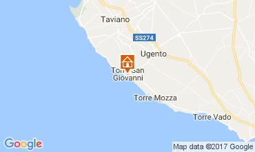 Karte Ugento - Torre San Giovanni Appartement 108671