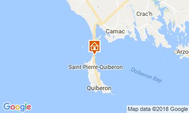 Karte Saint Pierre Quiberon Haus 67635