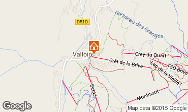 Karte Valloire Appartement 63867