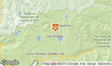 Karte Les Angles Ferienunterkunft auf dem Land 4819