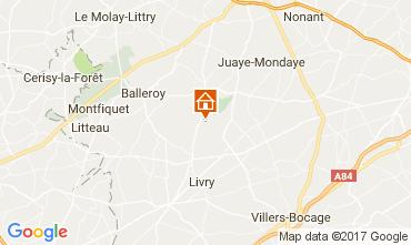 Karte Bayeux Mobil-Home 13330