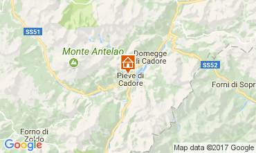 Karte Cortina d'Ampezzo Appartement 105108