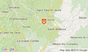 Karte Saint Ambroix Ferienunterkunft auf dem Land 104205