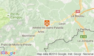 Karte Amélie-Les-Bains Studio 106653