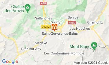 Karte Saint Gervais Mont-Blanc Chalet 2611