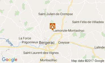 Karte Bergerac Ferienunterkunft auf dem Land 107715