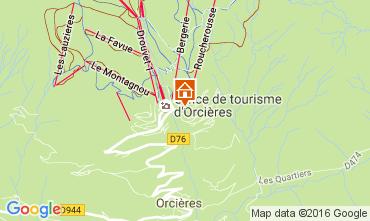 Karte Orcières Merlette Studio 2069
