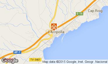 Karte L'Ampolla Appartement 55620
