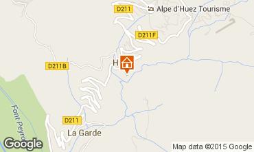 Karte Alpe d'Huez Studio 72