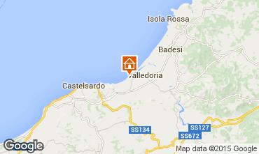 Karte Valledoria Appartement 56409