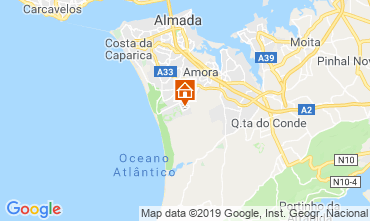 Karte Costa de Caparica Haus 47227