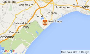 Karte Valras-Plage Mobil-Home 10163