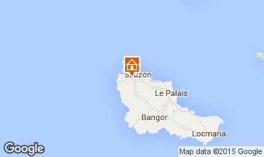 Karte Sauzon Ferienunterkunft auf dem Land 27025