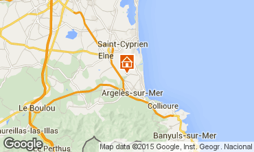 Karte Argeles sur Mer Mobil-Home 9804