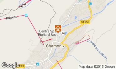 Karte Chamonix Mont-Blanc Appartement 28457