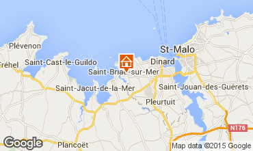 Karte Saint Briac sur Mer Mobil-Home 91448