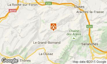 Karte Le Grand Bornand Chalet 1390