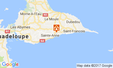 Karte Sainte Anne (Guadeloupe) Bungalow 58644