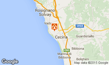 Karte Cecina Appartement 75988