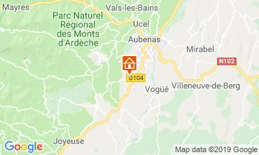 Karte Aubenas Villa 117897
