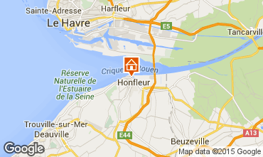 Karte Honfleur Appartement 72449