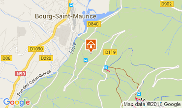 Karte Les Arcs Appartement 270