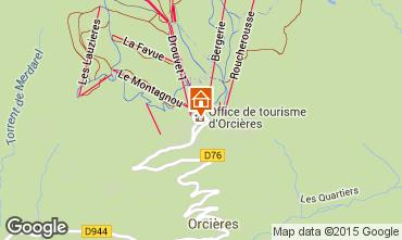 Karte Orcières Merlette Appartement 80594