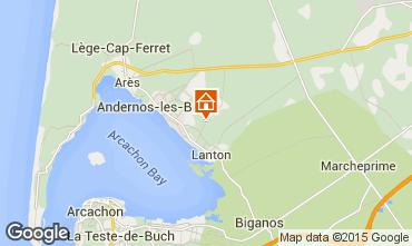 Karte Andernos les Bains Ferienunterkunft auf dem Land 91292
