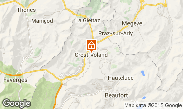 Karte Crest Voland Cohennoz Appartement 61393