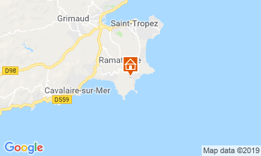 Karte Saint Tropez Haus 119986