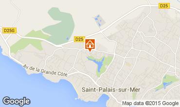 Karte Saint Palais sur Mer Appartement 10933