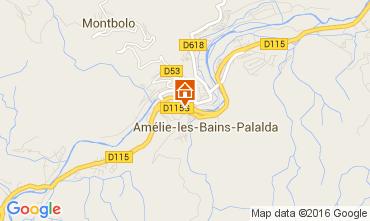 Karte Amélie-Les-Bains Appartement 104098