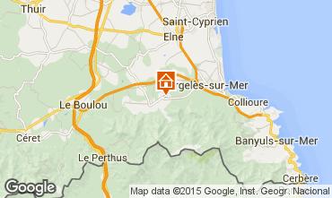 Karte Argeles sur Mer Ferienunterkunft auf dem Land 9835