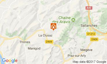 Karte La Clusaz Chalet 112531