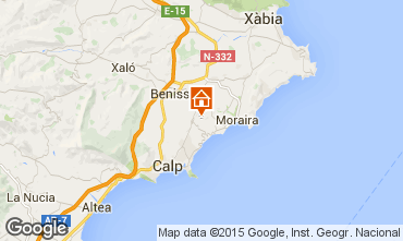 Karte Benissa Bungalow 54771