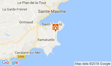 Karte Saint Tropez Mobil-Home 30322