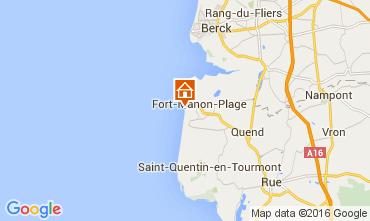 Karte Fort Mahon Appartement 72201