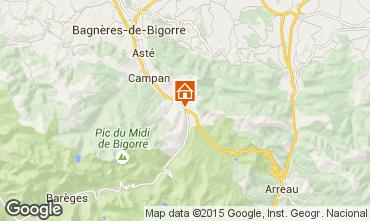 Karte La Mongie Appartement 4318