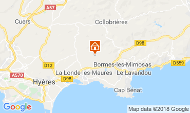 Karte La Londe les Maures Villa 98154