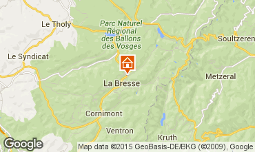 Karte La Bresse Hohneck Ferienunterkunft auf dem Land 4549