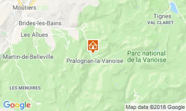 Karte Pralognan la Vanoise Ferienunterkunft auf dem Land 45684