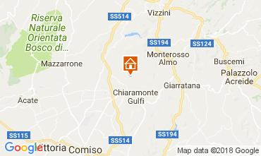 Karte Ragusa Ferienunterkunft auf dem Land 112832