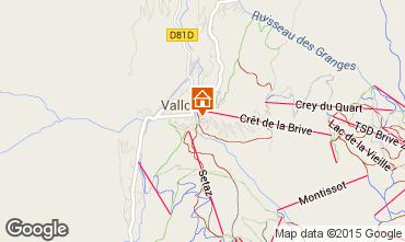 Karte Valloire Appartement 27146