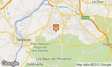 Karte Saint Rémy de Provence Ferienunterkunft auf dem Land 12438