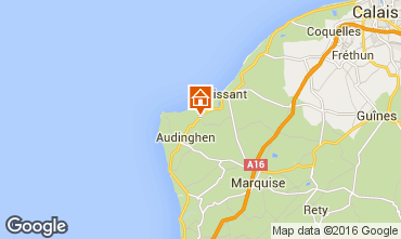 Karte Wissant Ferienunterkunft auf dem Land 102570