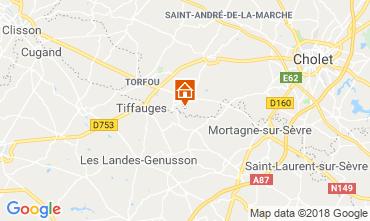 Karte Le Longeron Ferienunterkunft auf dem Land 29534