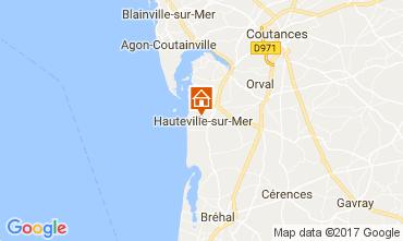 Karte Hauteville-sur-Mer Ferienunterkunft auf dem Land 40949