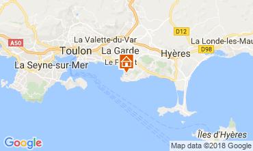 Karte Hyères Ferienunterkunft auf dem Land 113958