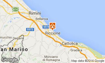 Karte Riccione Appartement 48193
