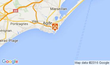 Karte Cap d'Agde Appartement 103539
